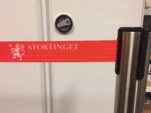 Stolt leverantör till Norges Riksdag